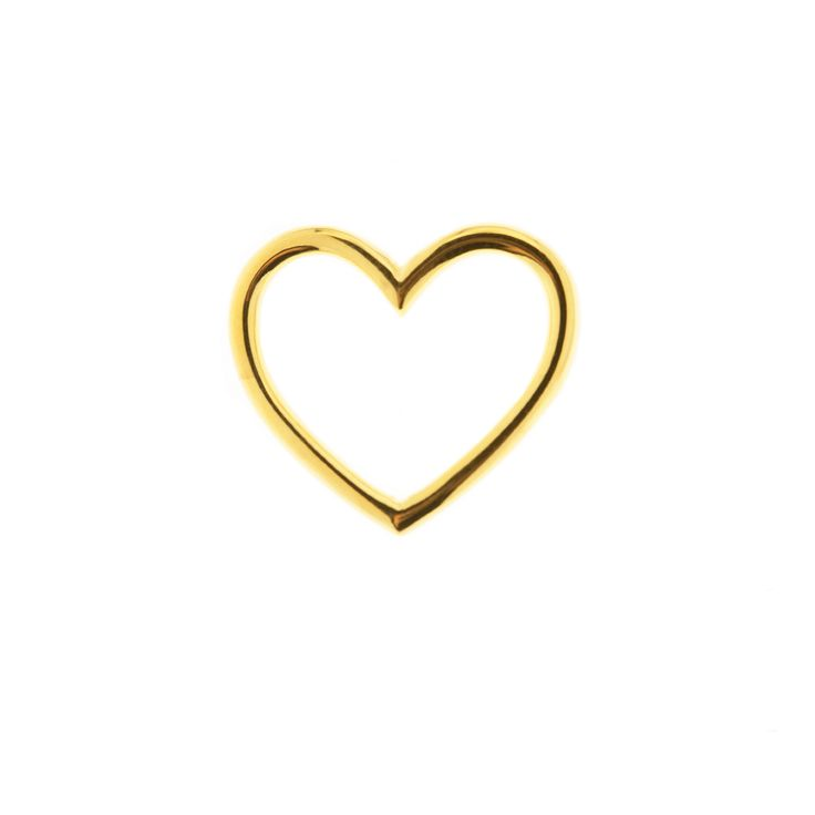 Gold plated sterling silver heart pendant for bracelet or necklace from By Malene Meden at Svane & Lührs. Buy alone or with leather straps. We tailor-make your length. Worldwide shipping € 5: www.svane-luhrs.com.