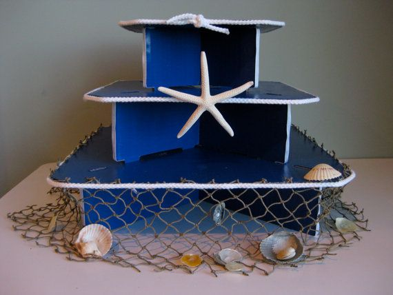 Nautical Beach Style Three Tiered Cupcake Stand for by NuLuDesigns, $39.95