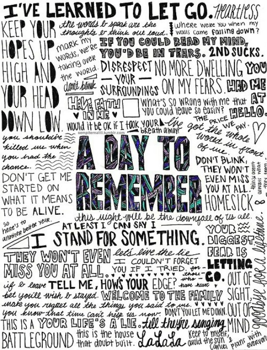 A Day To Remember Seeing Them Live Tomorrow In Worchester Mass