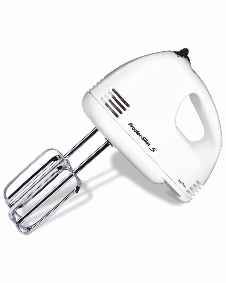 """Features: -Bowl rest function. -5-Speeds. -Beater eject. -Wattage: 125. Product Type: -Hand mixer. Color: -White. Dimensions: Overall Height - Top to Bottom: -7.75"""". Overall Width - Side to Si"""