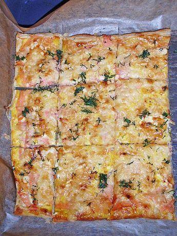 Schwedischer Lachskuchen 'Schwedenpizza' (Rezept m…