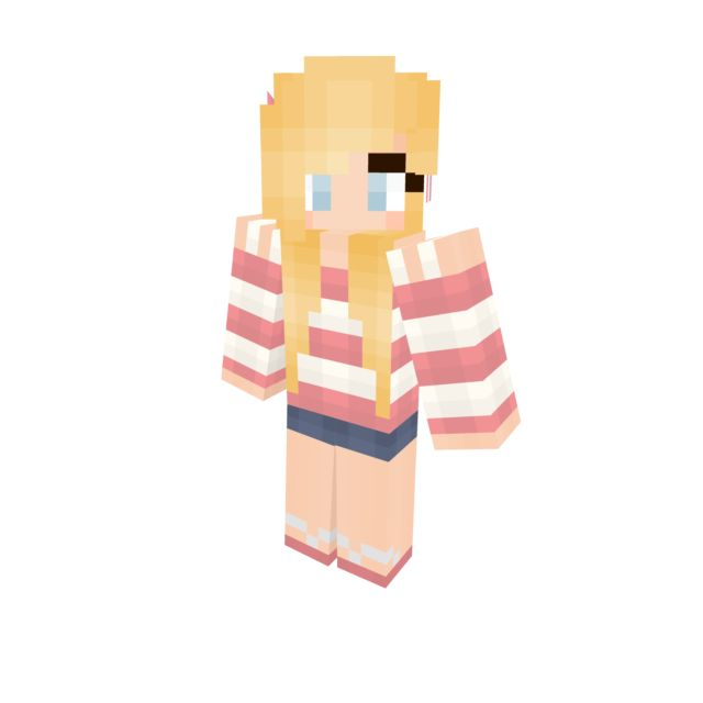Minecraft Girl Skin Shoes