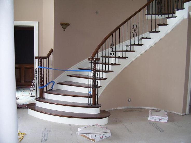 1000 images about stairs in residential homes on for Stair and railing solution