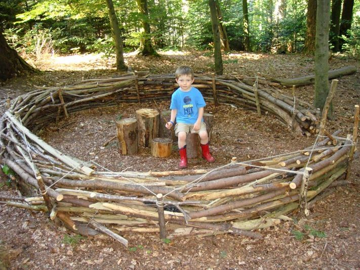 Outdoor Learning Link : How to build a waldsofa