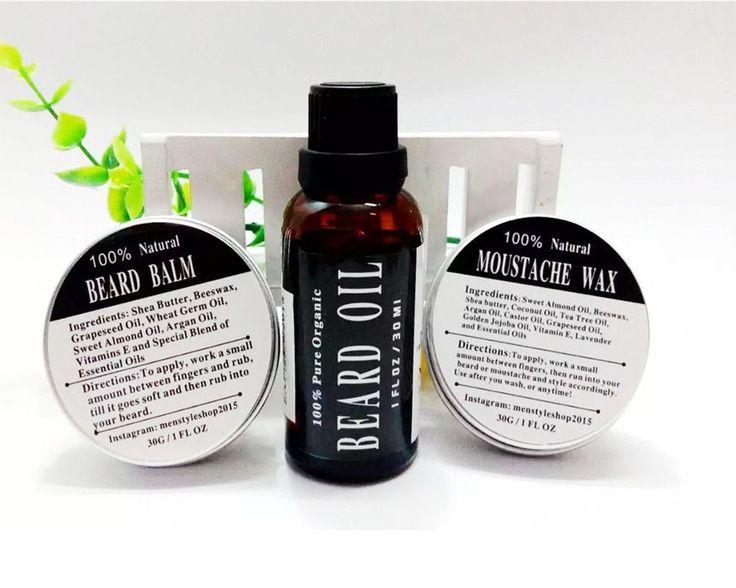 Epic Beard Care Kit: 100% Natural Beard Oil + Beard Care Wax and Balm Organic Beard Conditioner