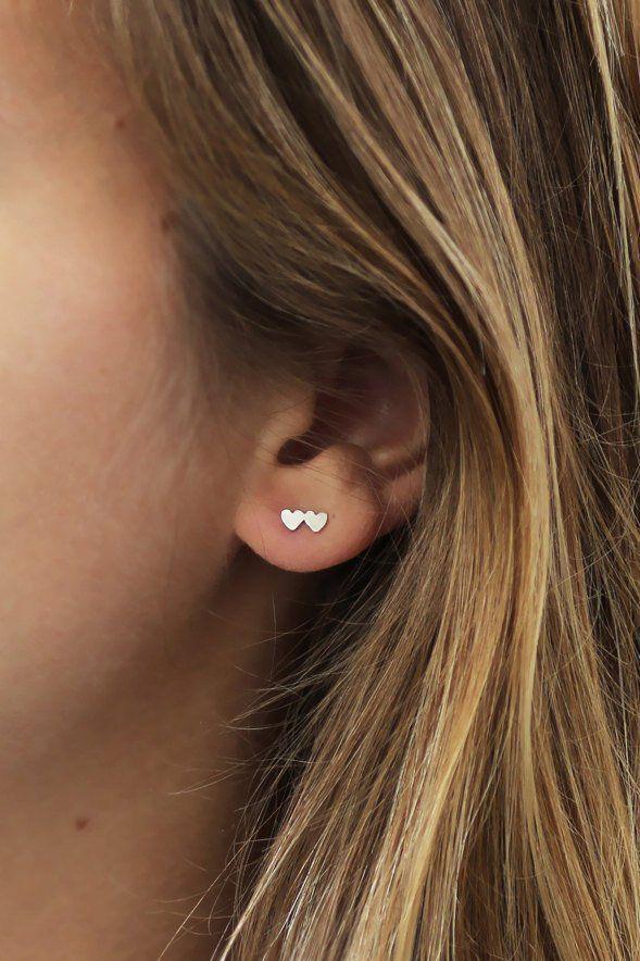 4 Pair Ear Jacket Stud Lotus Flower Earrings Jewelry Simple Chic Earrings Best Gift for Women Girls