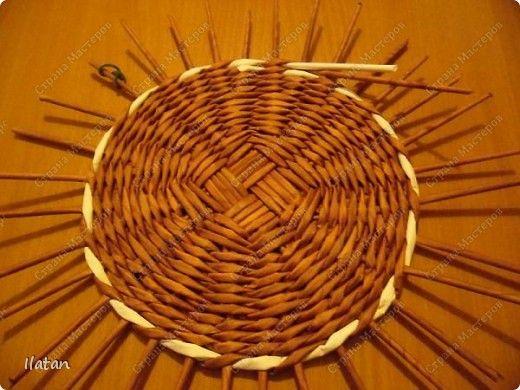Мастер-класс Плетение МК по ВЫПЛЕТЕНИЮ КРУГЛОГО ДОНЫШКА Бумага фото 10