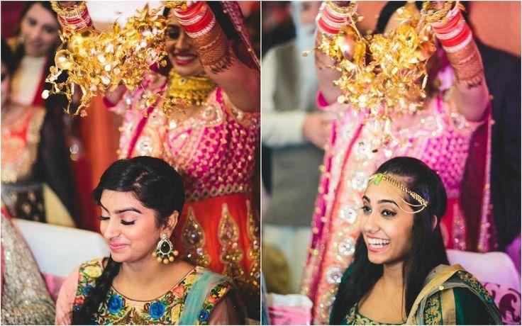 Bride dropping off kalire on bridesmaids  #BridalAccessories, #Kalire