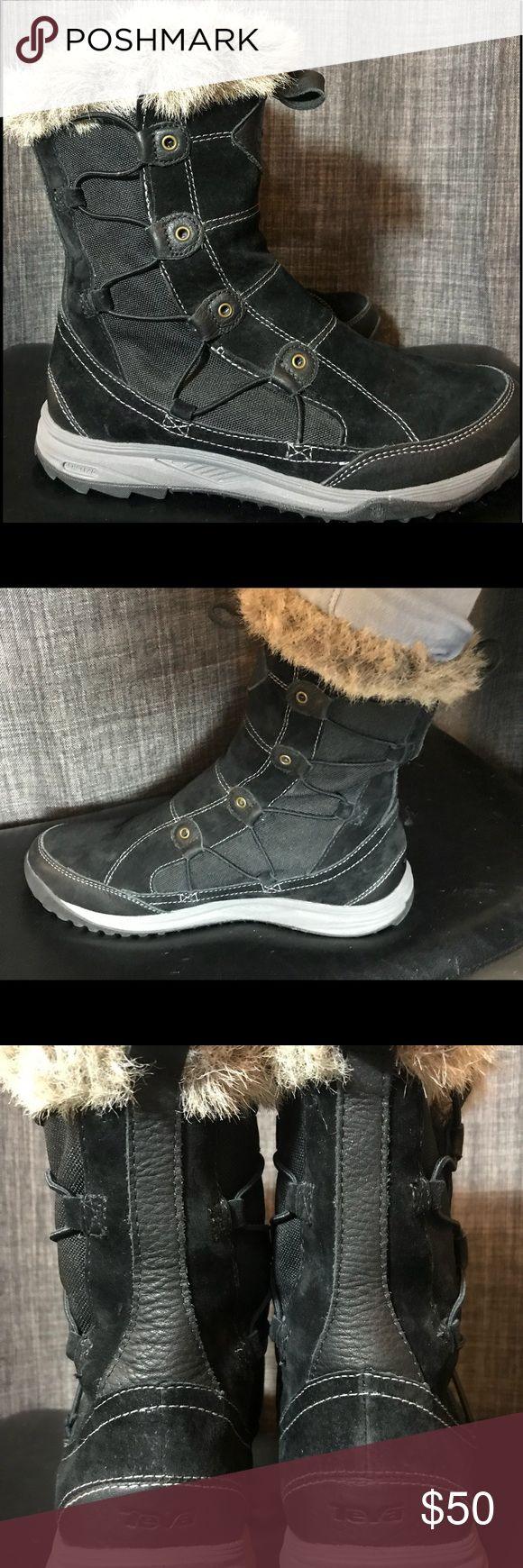 TEVA THINSULATE BOOTS❄️☃️EUC TEVA Little Cloud Boots with grippy tread, leather and faux fur. Insulated with THINSULATE and actually feel like the clouds they're named after. Very warm and lightweight! Teva Shoes Winter & Rain Boots