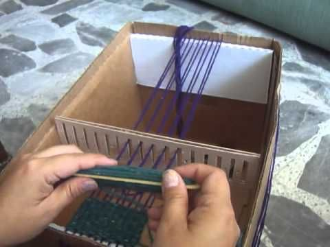 Telar de Peine con Caja de Carton HAZLO TU FACIL Y EFICIENTE - YouTube
