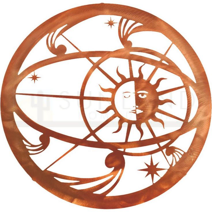 18in Celestial Sun Moon Wall Art