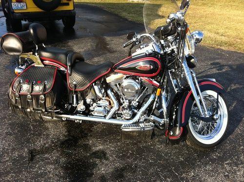 1998 Harley Davidson Heritage Springer, Price:$12,000. Springfield , Kentucky #harleydavidsons #harleys #softail #motorcycles #hd4sale #harleydavidsonsoftailheritage