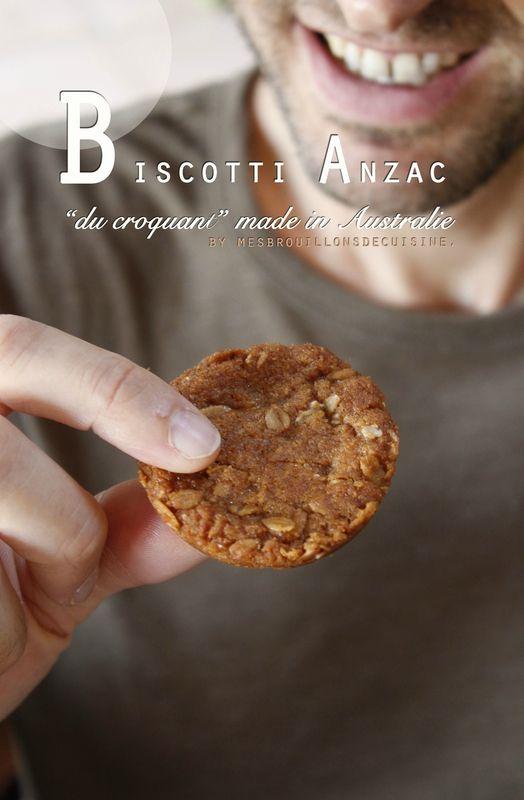Biscotti Anzac - flocons d'avoine, golden syrup et noix de coco