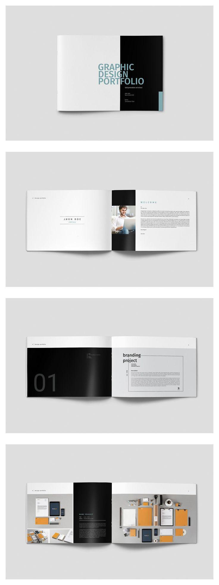 Graphic design portfolio template #graphicdesign #portfolio.