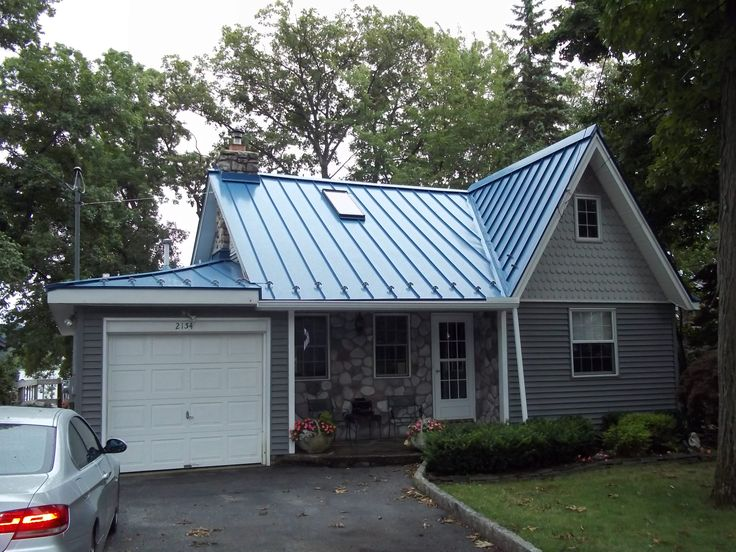 Blue Metal Roof on Charming Lakehouse Cottage