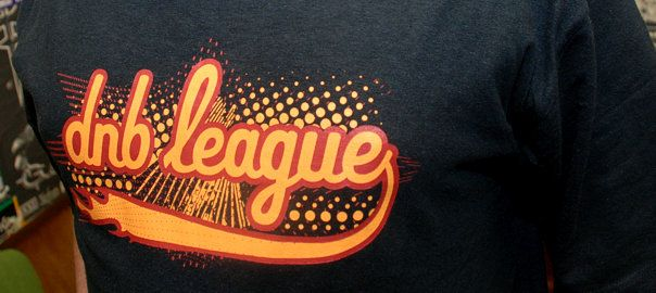 DNB LEAGUE in flames - original hemp t-shirt