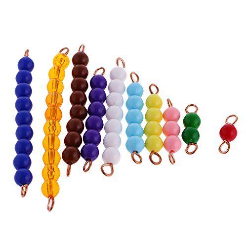 MagiDeal Jeux Educatif Montessori Perles Matériel Mathématiques Jouet d'Apprentissage Précoce Enfant Bébé: Montessori Mathematics Material…