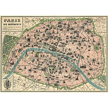 Cavallini Paris Map wrapping paper sheet... this would be great framed!