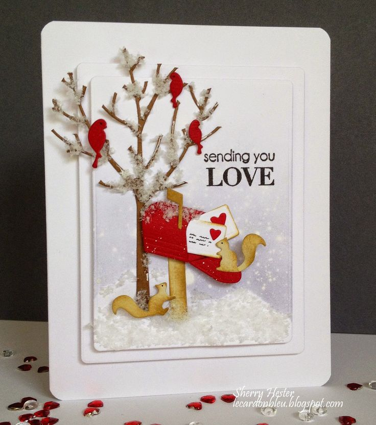 Card critters squirrel squirrels letters mail valentine