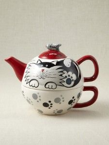 Paws for Tea Cat Teapot for One