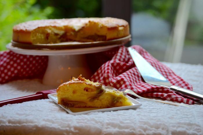 Rabarbercake Recept | Dr. Oetker