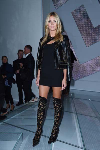 Heidi Klum On The Front Row At Milan Fashion Week 2014   Grazia Fashion @gtl_clothing #getthelook http://gtl.clothing
