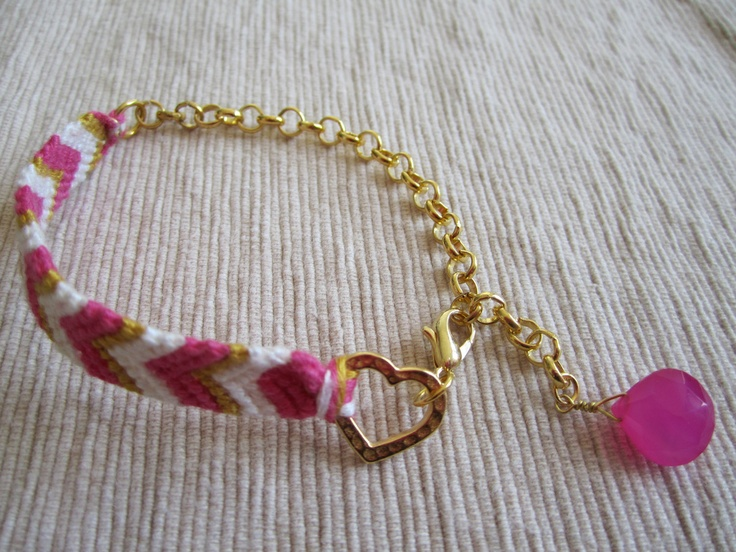 Love this version of a friendship bracelet!! ~ Friendship Bracelet by aims808 on Etsy