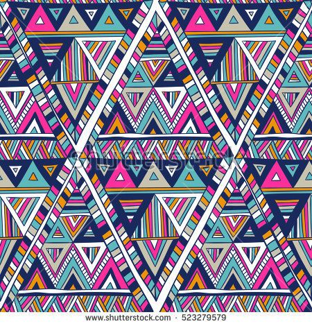 multicolor vector seamless pattern with triangles ...