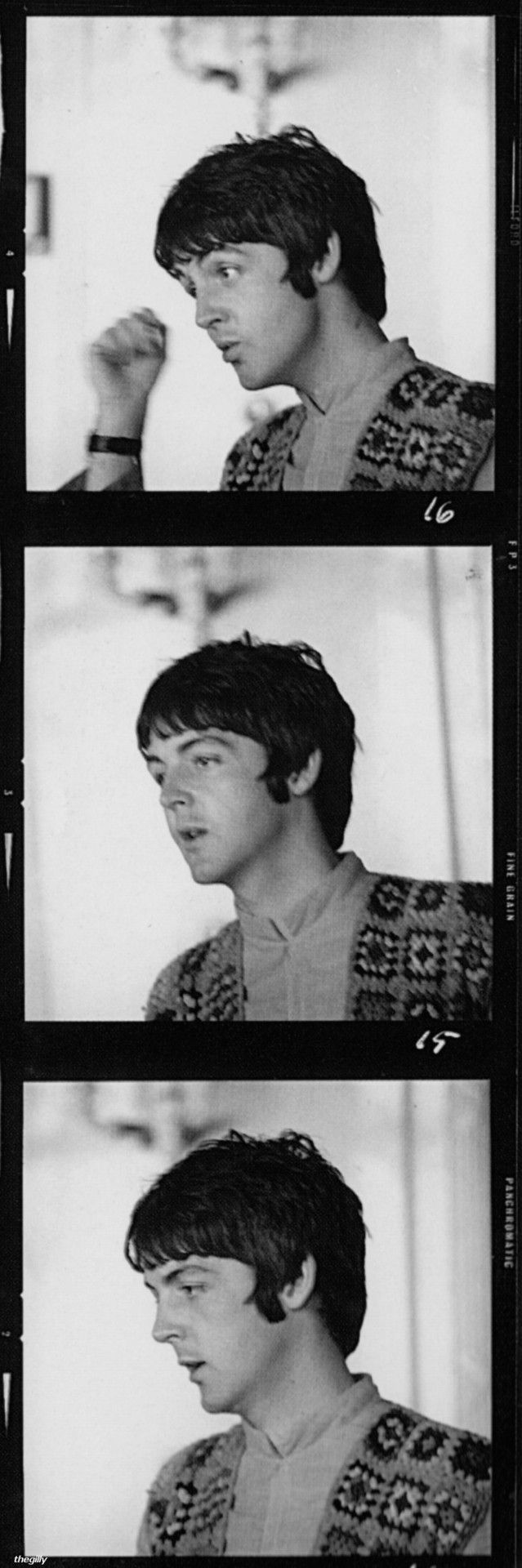 """Paul at the Atlantic Hotel in Newquay during the filming of Magical Mystery Tour, 13 September 1967.Scan from """"The Making of the Beatles' Magical Mystery Tour"""" by Tony Bramwell."""