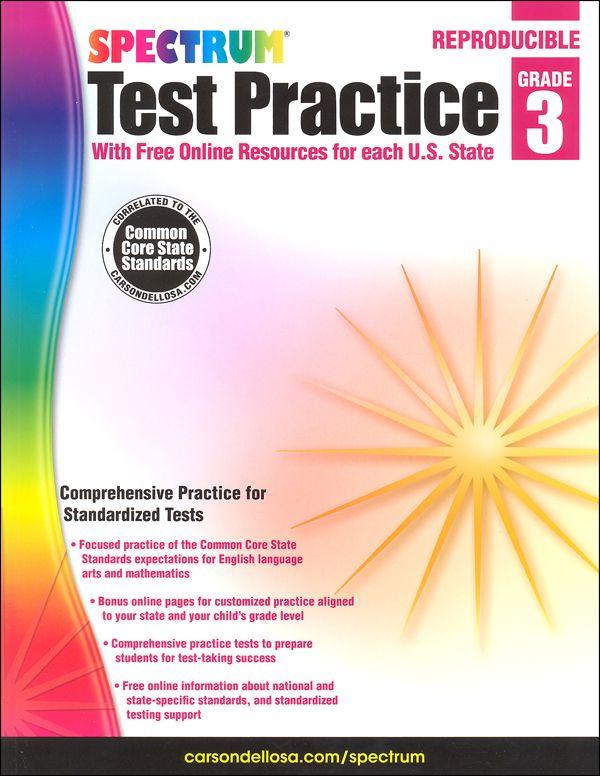 Spectrum Test Practice Grade 3 3 Elementary Summer Pinterest