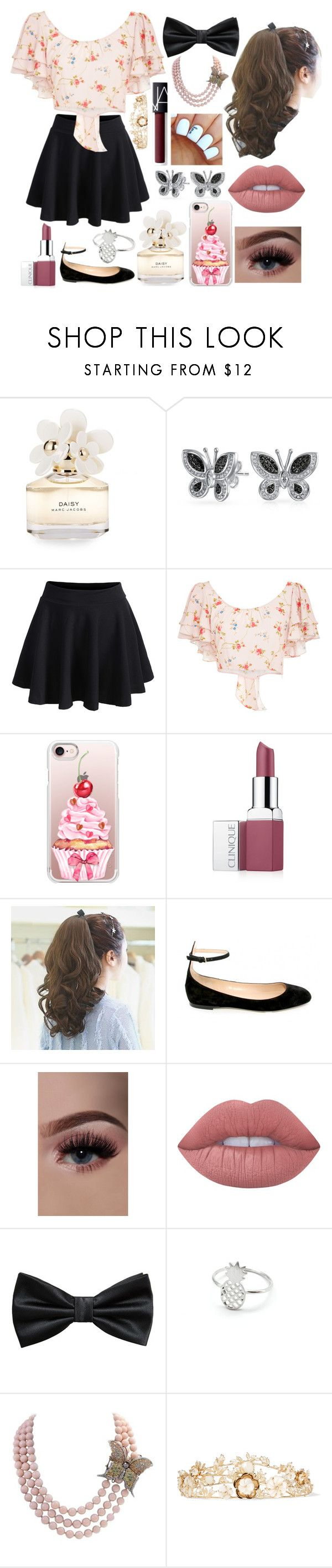 """""""Cute"""" by fandoms-and-good-music ❤ liked on Polyvore featuring Marc Jacobs, WithChic, Jill Stuart, Casetify, Clinique, Lime Crime, MANGO, Rosantica and NARS Cosmetics"""