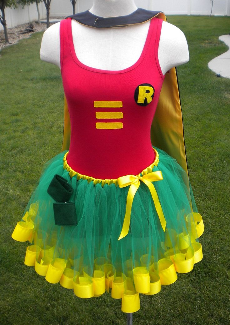 Runners Robin Costume Cape Mask Cuffs Tutu & by theblackscottie1