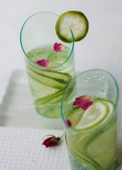 Lime and rose drink @FoodBlogs