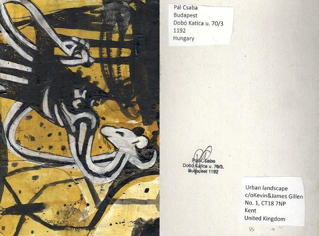 Mail art from Pál Csaba: Csaba Pál, mail art,Urban landscape, U.K.