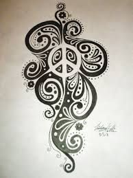Image result for peace sign tattoo                                                                                                                                                     More