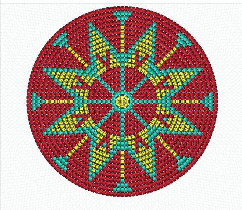Canto do Pano Artesanato: Bolsa crochê, no estilo Wayuu, com gráfico.