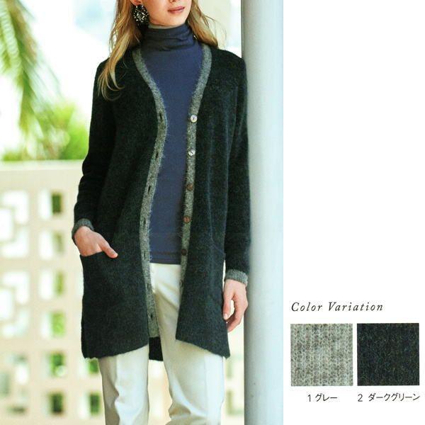 【楽天市場】【送料無料】 【CHIFFON】[Rib stitch knit]アルパカ混ニット ロングカーディガン【M】【L】30代 40代 50代 60代のミセス・シニアファッション:Dormi Fanny 洋服と雑貨のお店