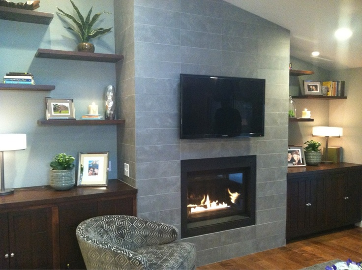 Love the built ins on either side of the TV - Photo from a reveal pic posted by @MrSilverScott (Property Brothers)
