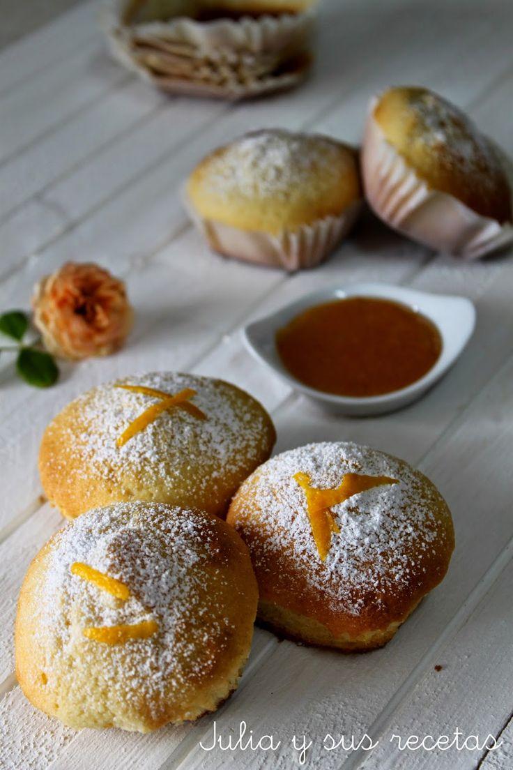 Magdalenas, magdalenas de nata, desayunos, recetas de magdalenas, Julia y sus recetas