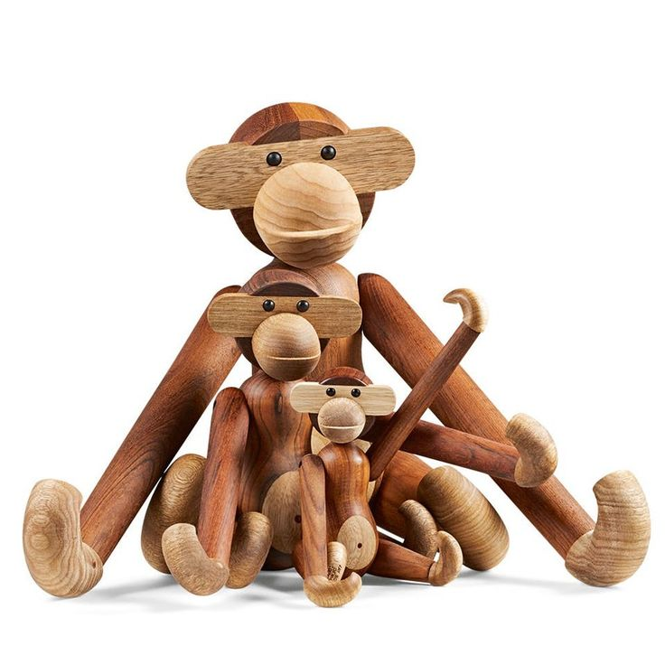 "Design icon, Kay Bojesen ""The Monkey"" - The beloved design icon was born in 1951, and since then the smiling little guy in teak and light limbo has moved into countless of homes."
