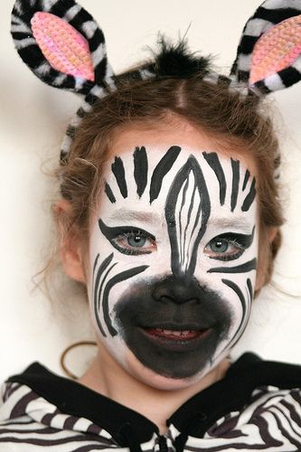 Zebra costume makeup