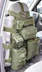 Vehicle accessory.. tactical seat organizer