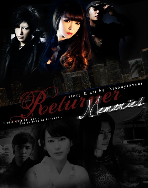 This is the third re-make of the poster for this story. Returner ~ Memories features Kamui Gakuto, Lee Donghae, and my original character Hwang Aerin.