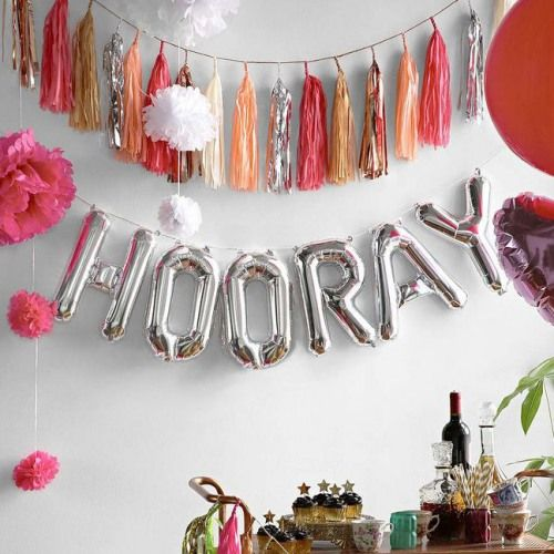 Mylar Balloon Banner by Beau-coup