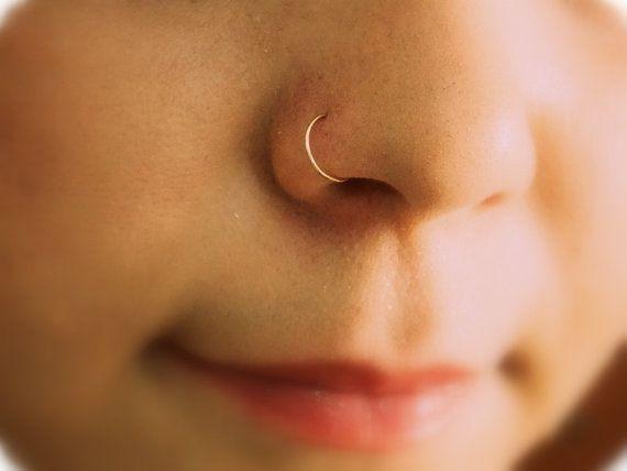 Cerceau de sans fin nez minuscule nez anneau/arceau 14K Yellow Gold Filled/argent Piercing/nez/cloison/Tragus/Helix/lèvre/Cartilage.