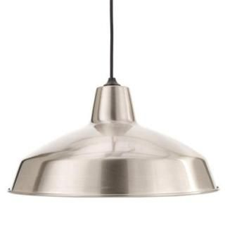This is the Hampton Bay Light Brushed Nickel Warehouse Pendant for only $29.88. From our favorite place… Home Depot!!