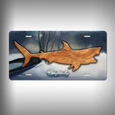 Shark Trophy License Plate Personalize your car's front license plate with Surfmonkey custom license plates! These brand new aluminum license plates make awesome gifts or a little something for yourse