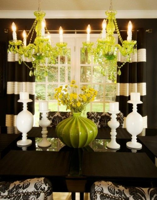 Introducing my FAVORITE color! : Colors Trends, Dining Rooms, Colors Combos, Living Rooms, Design Trends, Black And White, Interiors Design, Black White, Colors Schemes