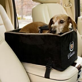 Snoozer Tiny Size Luxury Dog Car Seats, Micro Fiber Faux Suede Designer Lookout Dog Car Seats