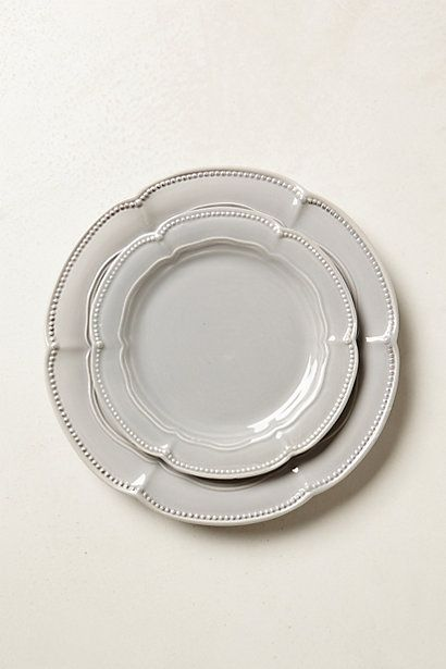 Dinnerware #anthropologie usually not a huge fan of grey but this is so elegant I had to share